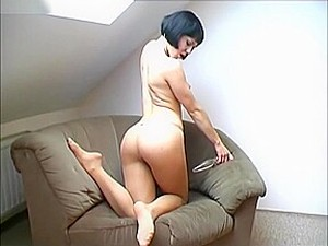 Masturbation - Flexible Teen Stripping And Playing With Sex Toy