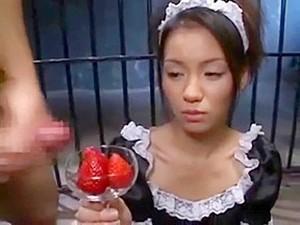 BuKKaKe Food - Japanese Starwberry With Cum