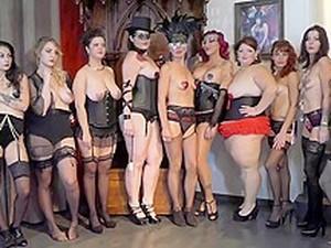 Burlesque Strip SHOW 025 Miss Gear BOX BURLESQUE GIRLS