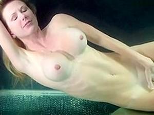 Underwater Tank Breathhold And Masturbation