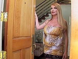 British Big Tits Cougar In Stockings Fucks 1
