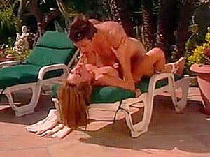 MILF Gettig Licked And Fucked By The Pool