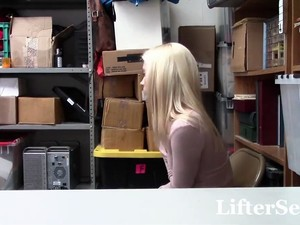 Shy Perky Blonde Takes Huge Load After Stealing - LifterSex