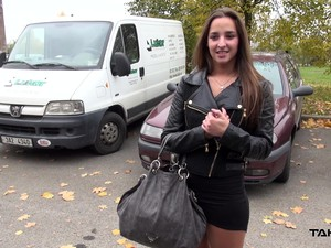 Brunette Teen Amirah Gets Her Pussy Pounded In A Car