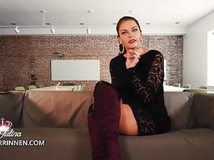 Dominação feminina,Pornô alemão,Salto alto,Mamilos,Meia calça