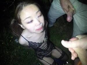 Bukkake - Hotwife Schoolgirl With Pigtails 6 Guys 4 Cum Loads In Bukkake