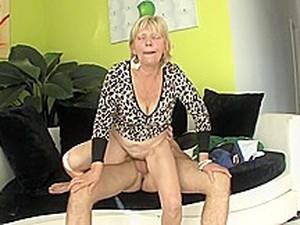 Unknown Hairy Granny & Toy Boy