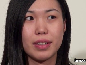 Sexy Asian Babe Has A Casting Interview Before Fucking