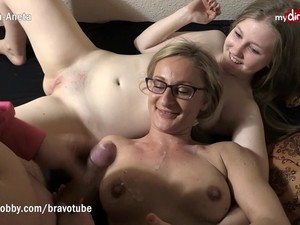 Threesome With Drunk Teen And Her Girlfriend
