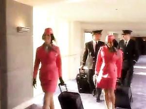 Flight Attendant Sucks Pilot In Hotel