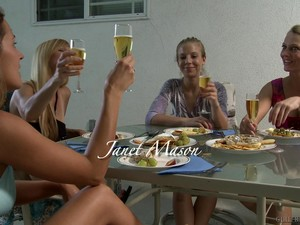 Birthday Party Ends With Strapon Sex With Chastity Lynn & Nicole Moore