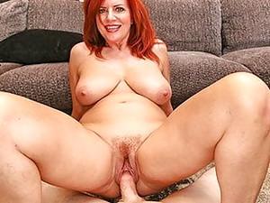 MILFTRIP Big Tit Redhead MILF Creams On Big Dick