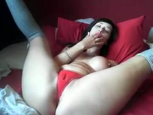 Wondrous Rather Flexible Though A Bit Plump Busty Gal Masturbated
