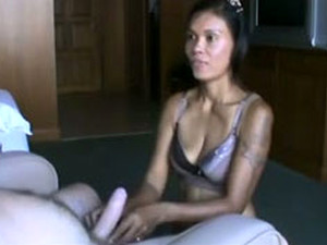 Skinny And Hot Asian Hooker In My Hotel Room Sucking Dick