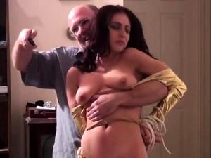 Old Man Fucks Young Busty Hottie Brunette