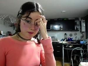 Brunette Teen Fingering Her Sweet Tight Cunt On Webcam