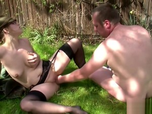 German Mumsy Seduce To Fuck Outdoor In Forest By Ugly Man