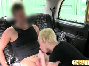 Deep Throating A Cock In The Taxi