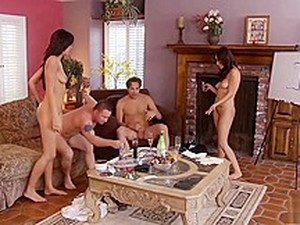 Group Sex And Hangman With Lovely Couples 4