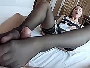 Maid Stocking Footjob