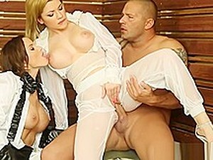 Dominant Rich Babes Cocksucking Male Slave