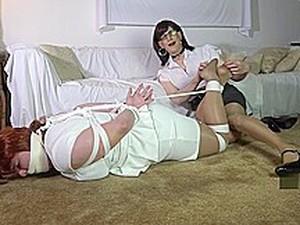 绑缚调教,绑带,变装,女士内衣,熟女