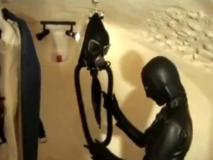 Rubber Latex Lesbian Girls In Her Studio Play Master And Slave Session