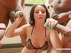 Nelly Kent Is Gently Sucking Two Black Dicks And Getting Doublefucked The Way She Likes