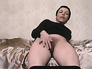 Short Raven Haired Slut With Nice Boobies Was Playing With Her Sex Toy