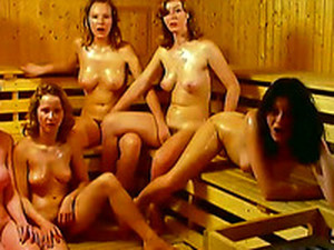 Here Is A Pack Of Dirty Whores In The Sauna Hungry For Dick