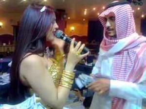 Arabic Man In Dubai Night Club
