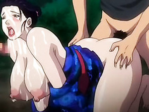 Super Curvy Anime Milf Is Fucked And Jizzed In The Forest