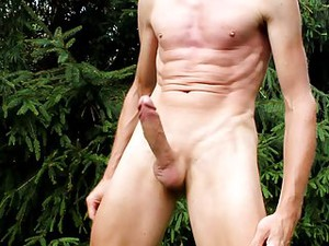 Cumshot And My Naked Body And Shaved Penis