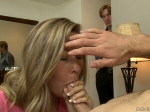 Cute Mature Blonde Woman Eagerly Sticks Dick In Her Mouth