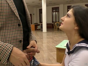 Italian College Babe Francesa Dicaprio Gets Intimate With Her Teacher