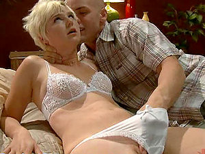 Blonde Bound, Gagged & Dominated By Guy & A Girl