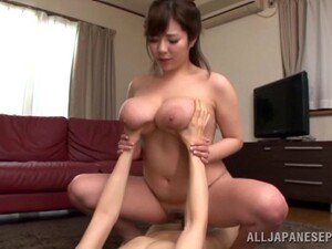 Foxy Asian Babe With Big Tits Gives A Tit Fuck Then Gets Hammered Hardcore