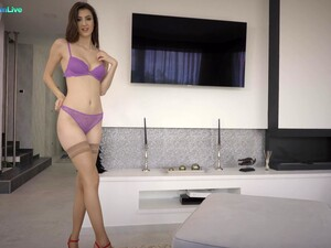 Desirable Girlfriend Lina Luxa Takes His Stiff Dick Up Her Butt