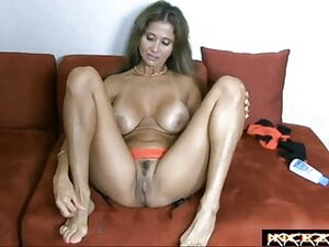 Cum On Beautiful Mature Feet With Lovely Bunions