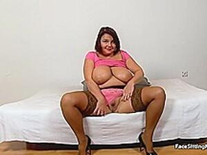 性感胖女人,大奶头,褐发,内射,玩具