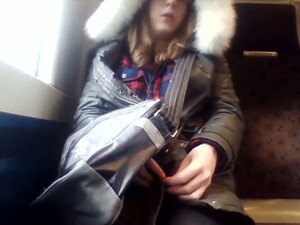Depraved Shemale Likes To Flash Her Private Parts On Public Transportation
