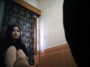 Chinese Village Hooker At Work - Black Dress