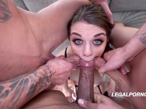 Sweet Babe With Pale Skin, Anastasia Rose Got Doublefucked Until She Started Screaming From Pleasure