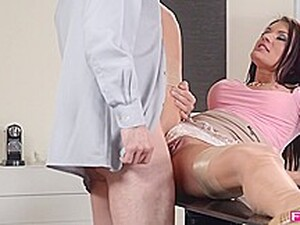 Sexy Woman In Erotic Lingerie Bends Over And Offers Her Fuckholes To A Handsome Guy