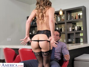 Sexy MILF Gives Into Primal Desires With Her Neighbor And She Fucks Like Mad