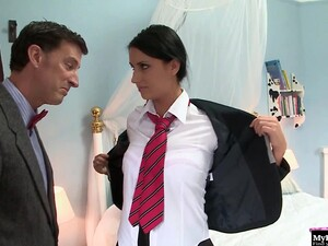 Beautiful Teen And She Has No Other Way Than To Fuck With Her New Boss.