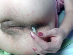 Rectal Temperature Test. Thermometr In Anal