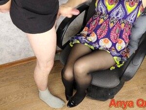 Fully Dressed Lover All Dirty In Cum ... Anya Queen Handjob