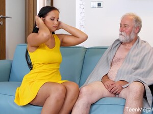 Too Naughty Brunette Teen Jennifer Mendez Is Fucked Doggy By Old Man