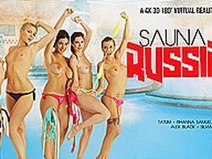 Alex Black  Kattie Gold  Rihanna Samuel  Silvia Dellai  Sweet Cat In Sauna Russian Style Part 1 - VRBangers